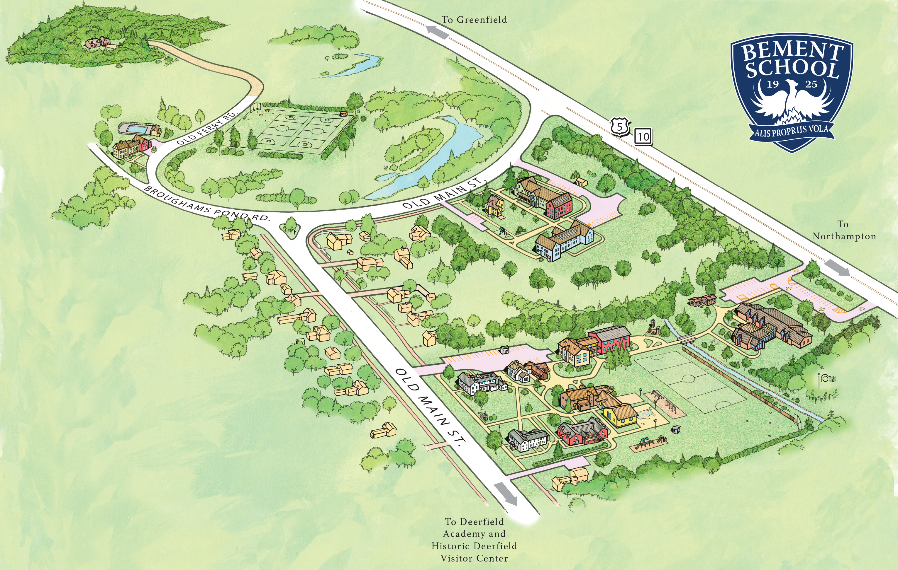 Campus Map The Bement School